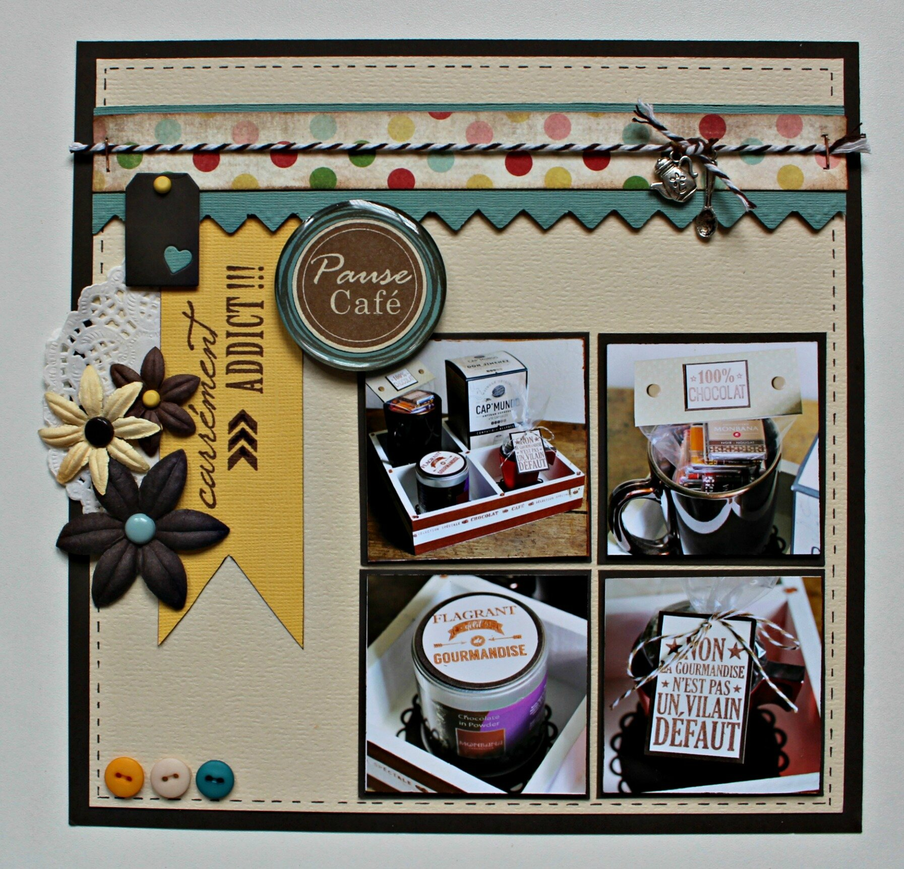Page multi challenge : Kit Multi-Pages Juillet 2014, scraplift & nouveautés tampons bois Swirlcards par Is@ de Belley