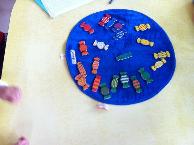 jeu des bonbons :discrimination visuelle (couleur)