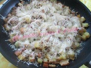 Poêlée de pommes de terre sautées à l'émincé de poulet et emmental18
