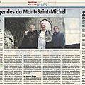 Le mont saint michel raconté dans une bd normande