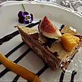 Opéra de foie gras aux mangues et figues..........idée festive