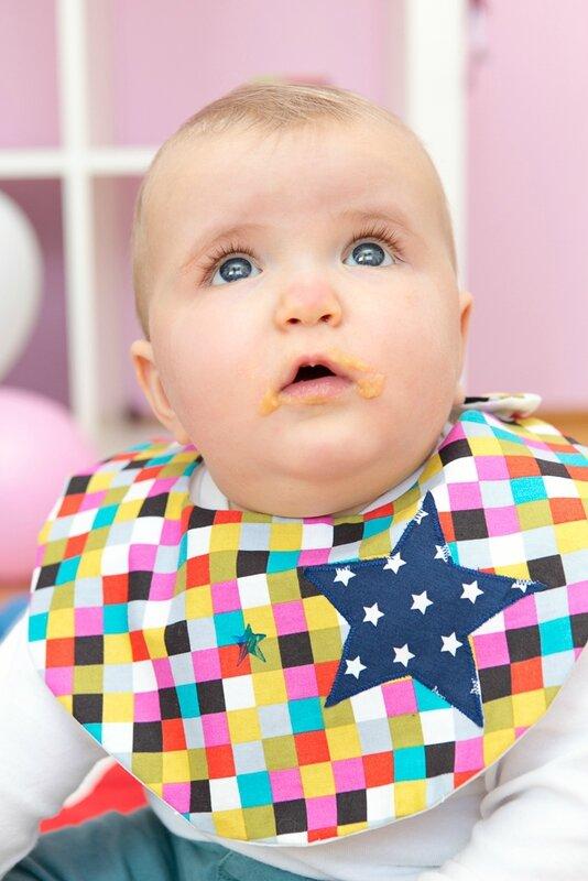 BRODI BRODA -clown-bavoir bébé personnalisé-création textile pour enfant