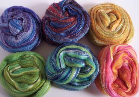 150g merino silk 6samples