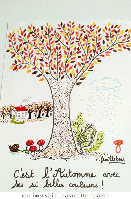 illustration automne - AF- Marimerveille