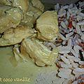 Poulet au lait de coco vanillé