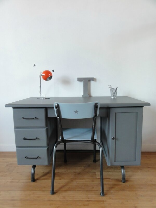 bureau maitre d 39 ecole annees 60 vintage moi. Black Bedroom Furniture Sets. Home Design Ideas