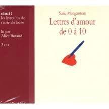 """CD livre lu """"Lettre d'amour de 0 à 10"""""""