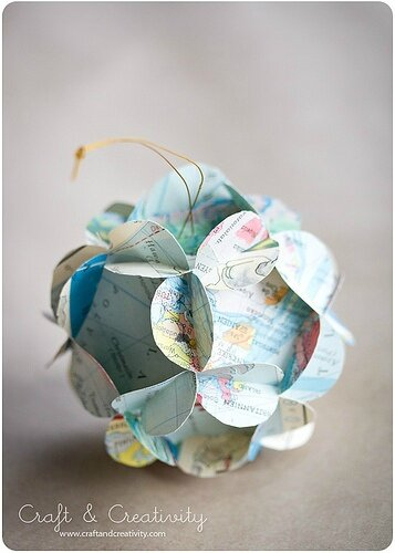 balle de papier décorative