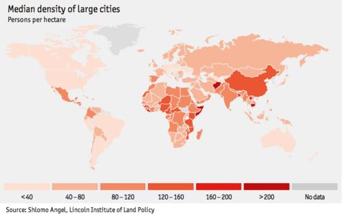 densite des villes