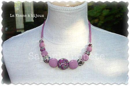 collier tissu liberty vieux rose et crochet1
