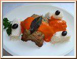 0217 - petits farcis au coulis de poivron rouge