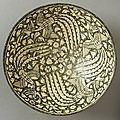 Bowl with four phoenixes. iran, sultanabad, 14th century
