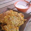 Galettes tofu et carottes