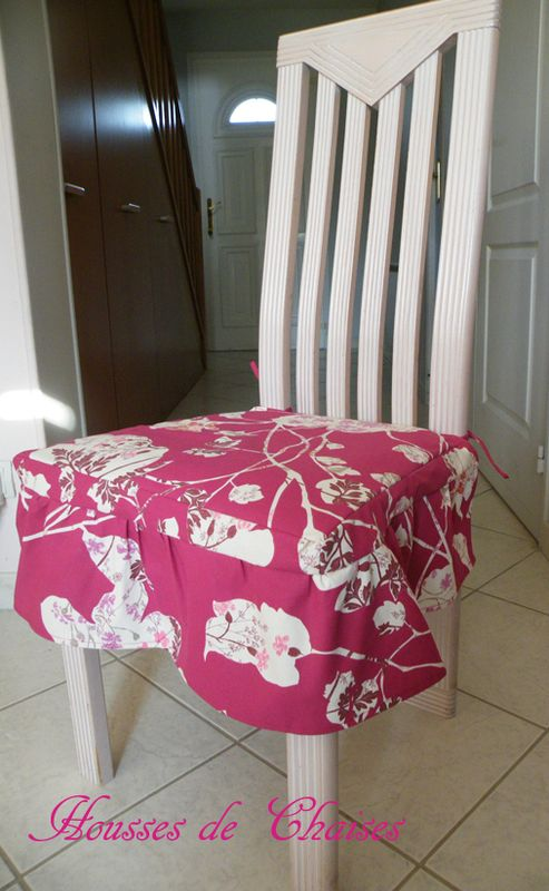 Housses de chaises sur mesure l 39 atelier de coton - Housse de chaise sur mesure ...