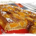 Tarte aux abricots et  la crme de noisette