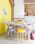 kitchen-yellow-chair-and-wall