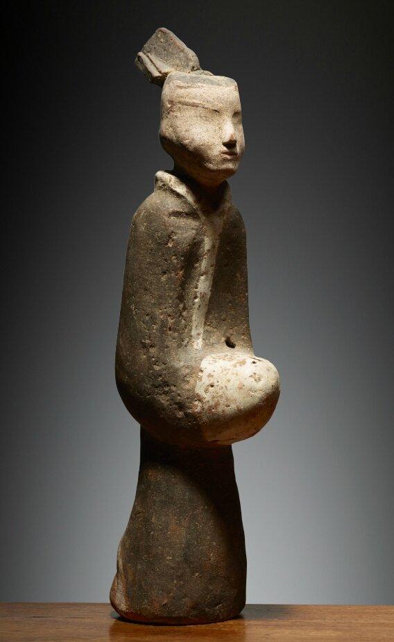 Personnage debout, Chine, dynastie des Han occidentaux, 2°-1° S BCE