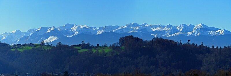 Les Pyrénées depuis ma terrasse