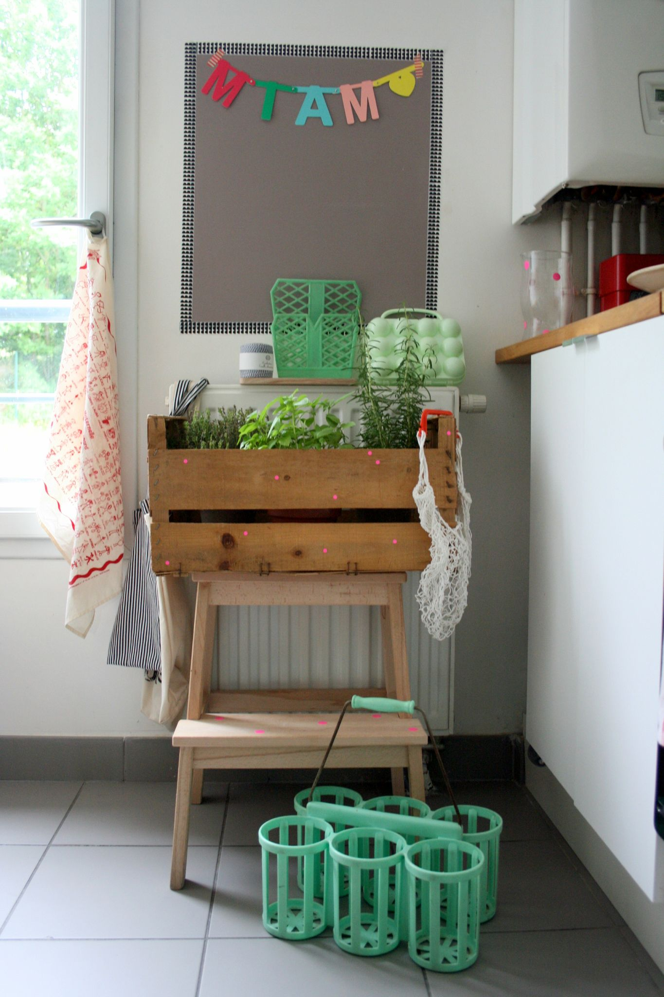 diy un potager dans ma cuisine emilie sans chichi. Black Bedroom Furniture Sets. Home Design Ideas