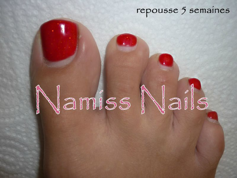 Remplissage pieds avec french au gel vos ongles ma passion - Pied vernis rouge ...