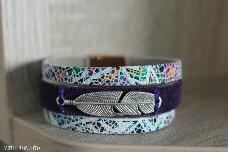 gros bracelet azteque blanc
