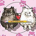 Cadeau fête des mères - caricatures de chats main coon