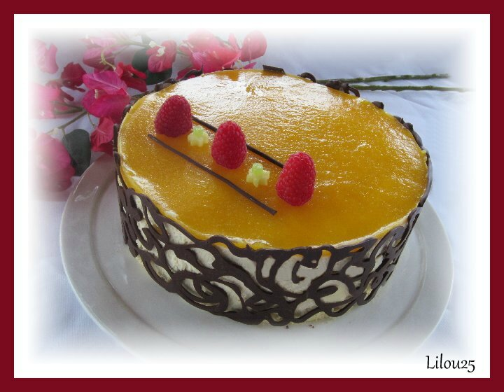 entremet exotique : mangue - banane - passion 101976681