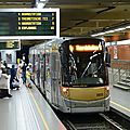 Bruxelles : nord-midi en métro