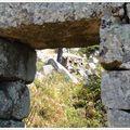 Ruines de caseddu et vieux four en arrière plan...