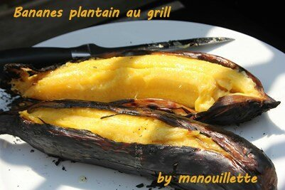bananes plantain au grill par pure gourmandise. Black Bedroom Furniture Sets. Home Design Ideas