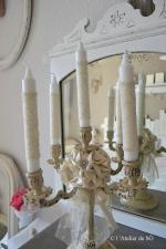 bougeoir 5 branches shabby chic de - 1