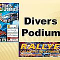Monts du Lyonnais 2015 - Divers - Podiums