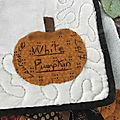 White pumpkin quilt