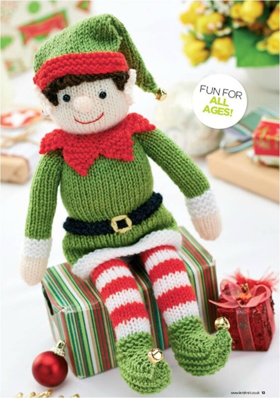 Knitting Pattern For Elf On The Shelf : Traduction Christmas Elf - Elfe de noel - LES CREATIONS CCC80