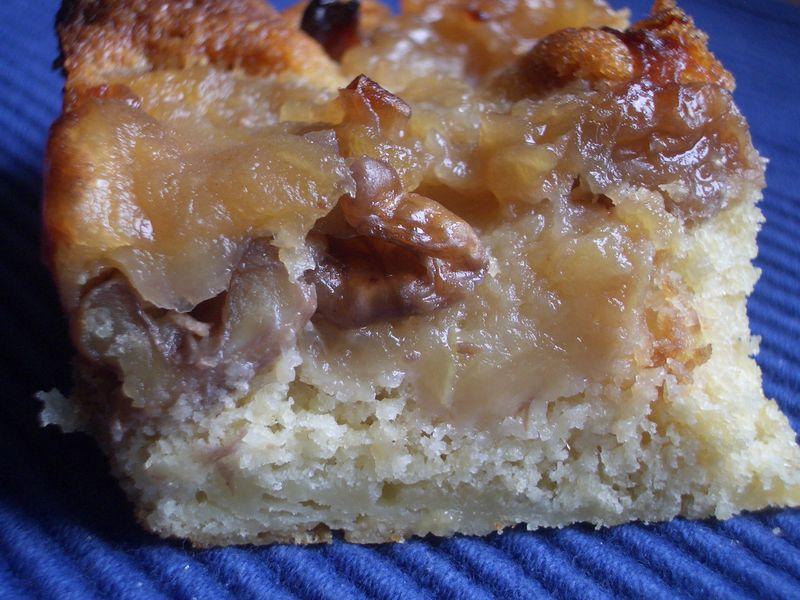 G teau pomme noix et cr me p tissi re dan s apple walnut and custard pudding angel cake - Gateau aux noix et pommes ...