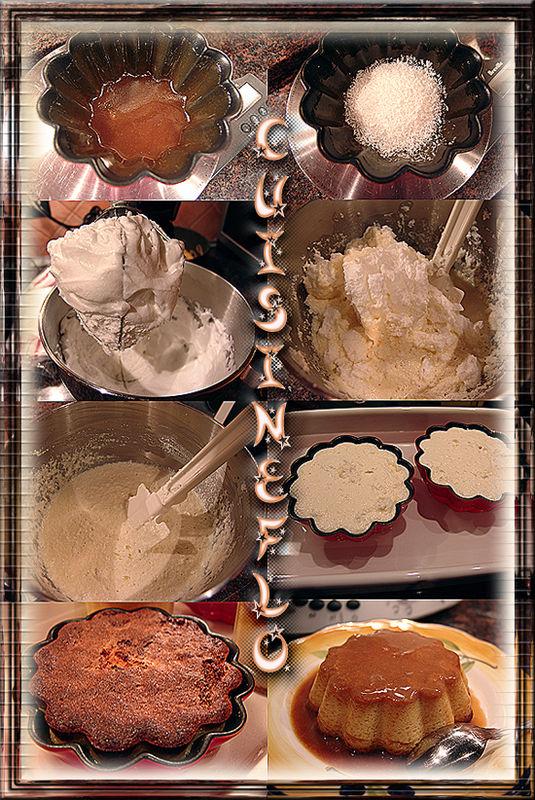 Montage Flan Coco de Cuisineflo