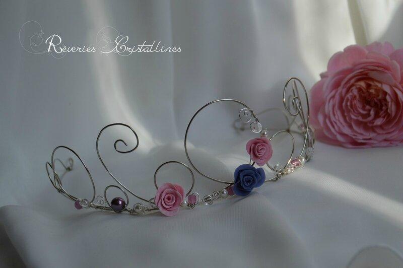 Diadème rose et violet (2)