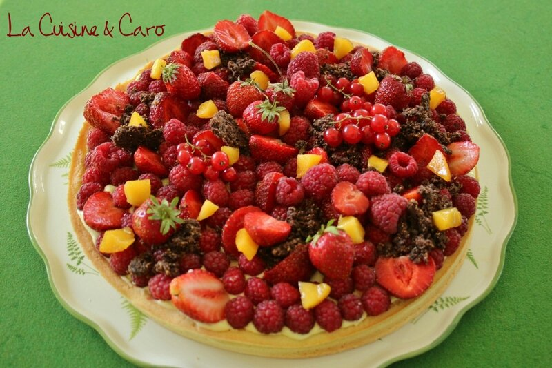 tarte_basilic_fruits_rouges_mangue_crumble_chocolat