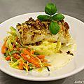 Filet d'églefin aux petits légumes