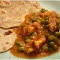 Mattar paneer (curry de paneer maison aux petits pois frais) et festival humanitaire sur toulouse !
