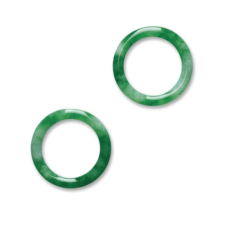 Rare Pair of Jadeite Bangles