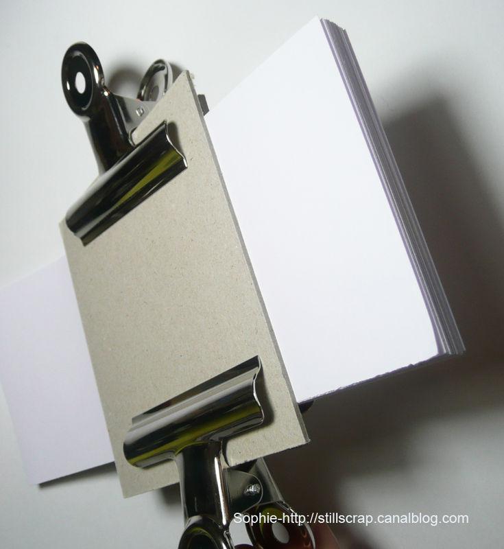 Préférence Comment faire un dos carré collé : tuto - still scrap de soph WG14