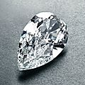 'panther eye'. a 52 carat pear shape diamond