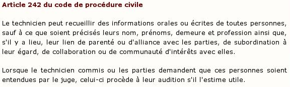 Article 242 du code de procédure civile :