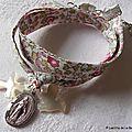 Bracelet de l'Annonciation (sur ruban Eloïse rose)