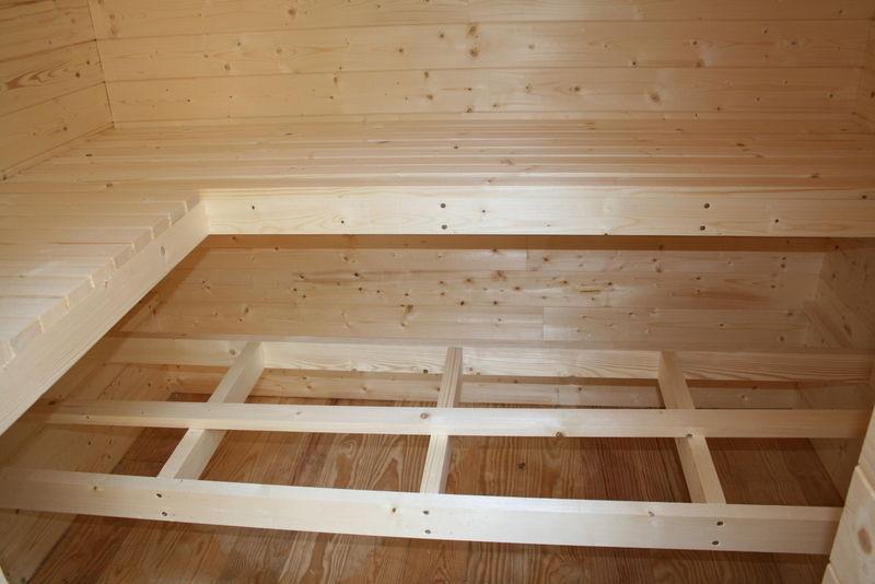 auto construction du sauna ossature bois. Black Bedroom Furniture Sets. Home Design Ideas