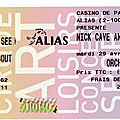 Nick cave & the bad seeds - mardi 29 avril 2008 - casino de paris