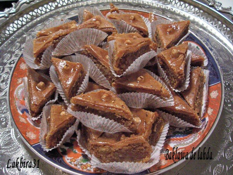 Baklawa de lahda toute la cuisine que j 39 aime - Toute la cuisine que j aime ...