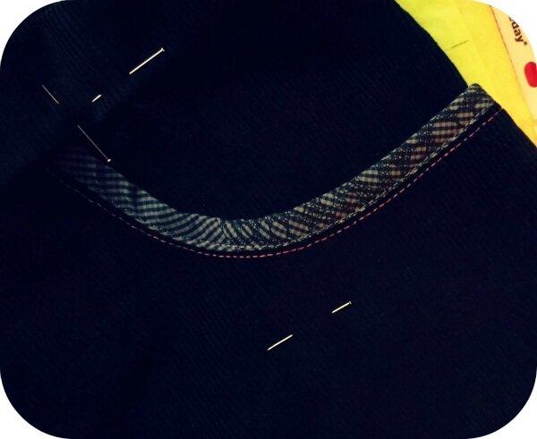 Velours noir zoom surpiqûre poche Janvier 2016