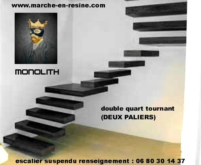 escalier suspendu concrete steps marche en beton escalier. Black Bedroom Furniture Sets. Home Design Ideas